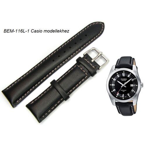 BEM-116L-1 Casio fekete bőrszíj