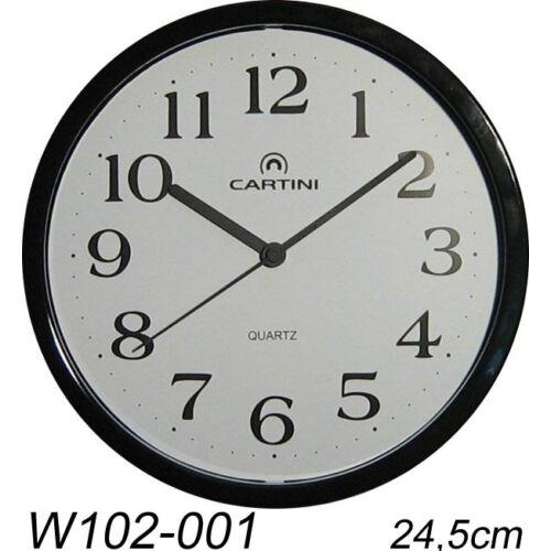 W102-001 Cartini falióra, fekete - rkt