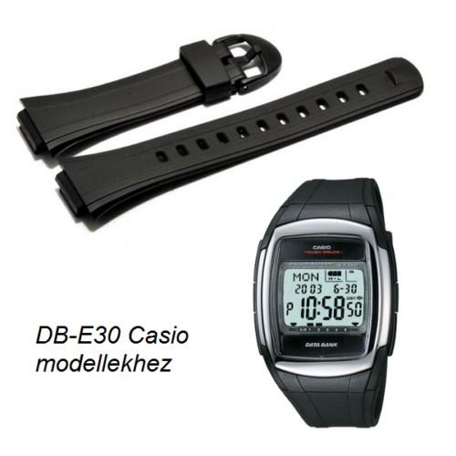 DB-E30-1 Casio fekete műanyag szíj