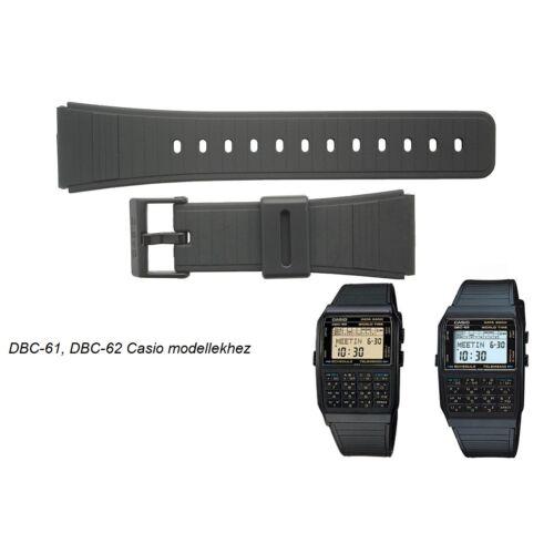 DBC-61 DBC-62 Casio fekete műanyag szíj