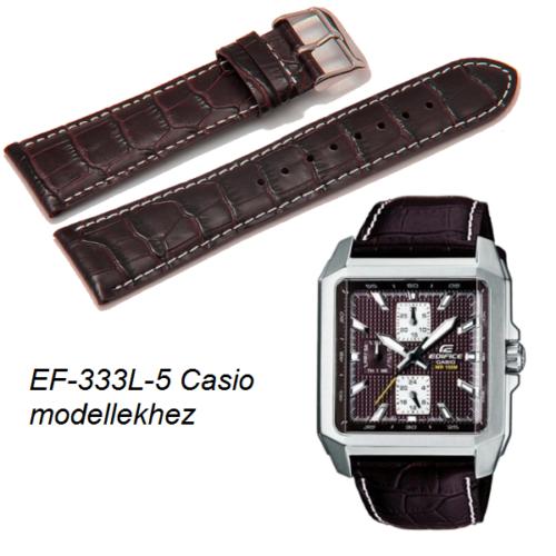 EF-333L-5 Casio barna bőrszíj