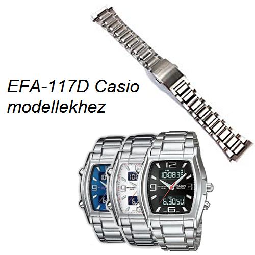 EFA-117D Casio fémszíj