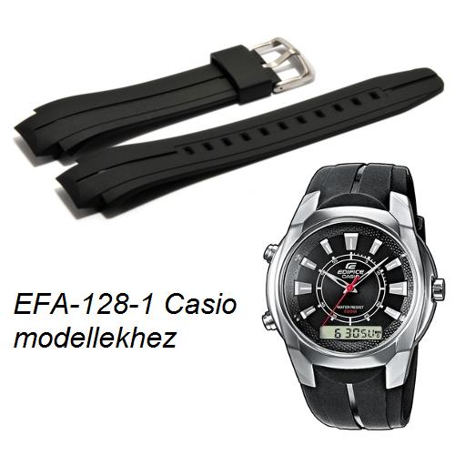 EFA-128-1 Casio fekete műanyag szíj