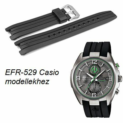 EFR-529 Casio fekete műanyag szíj