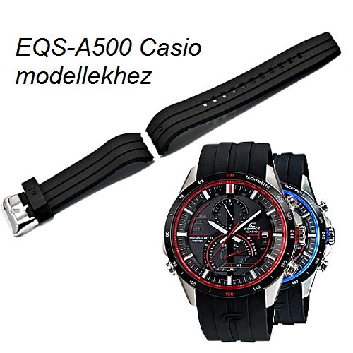 EQS-A500 Casio fekete műanyag szíj