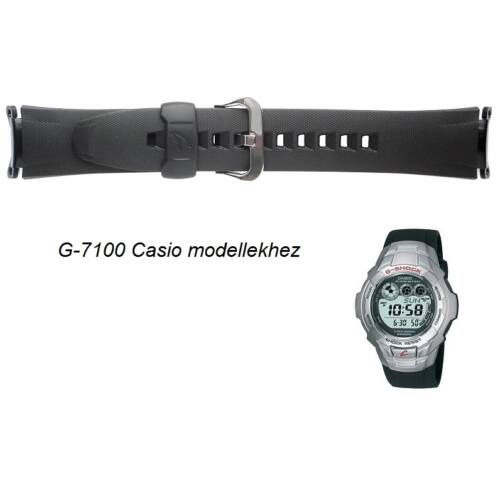 G-7100-1 Casio fekete műanyag szíj
