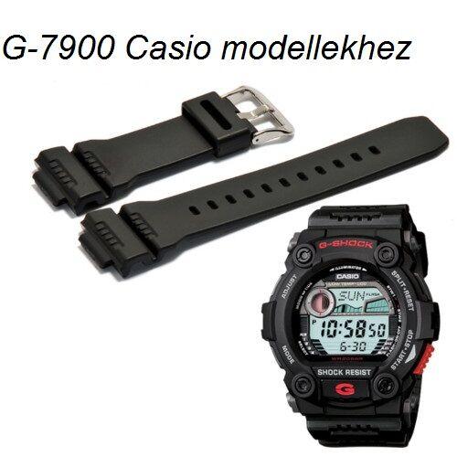 G-7900 GW-7900 Casio fekete műanyag szíj