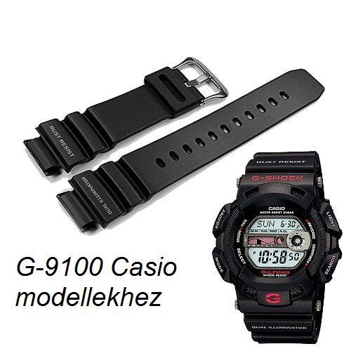 G-9100 Casio fekete műanyag szíj