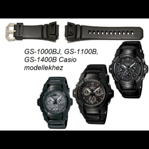 GS-1000BJ GS-1100B GS-1400B Casio fekete műanyag szíj