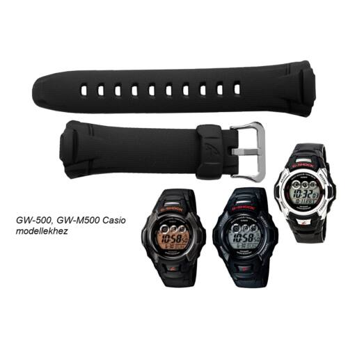 GW-500 GW-M500 Casio fekete műanyag szíj