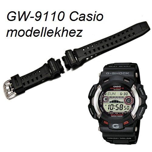 GW-9110 Casio fekete műanyag szíj