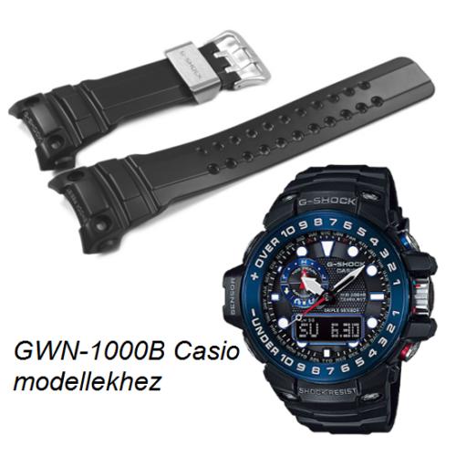 GWN-1000B Casio fekete műanyag szíj