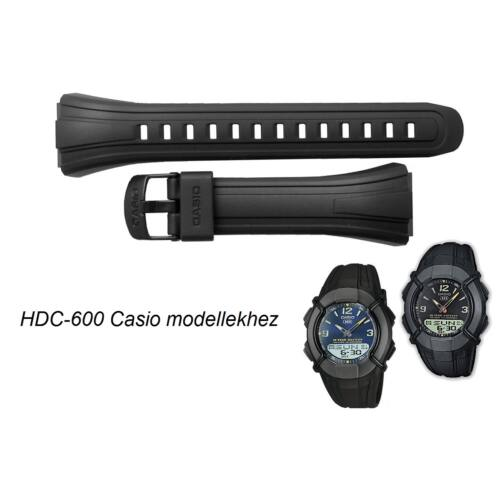 HDC-600 Casio fekete műanyag szíj