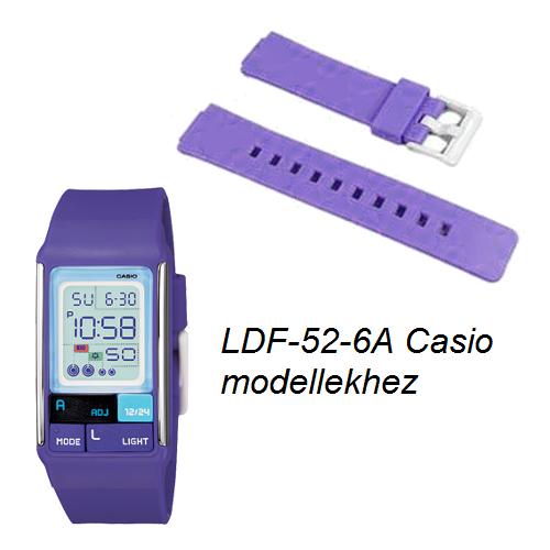 LDF-52-6 Casio lila műanyag szíj