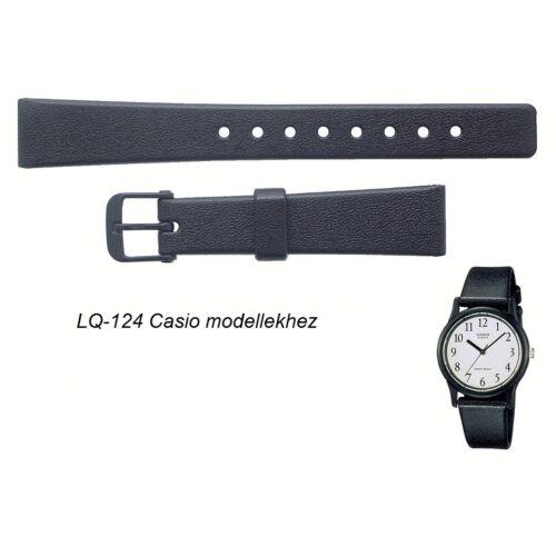 LQ-124 Casio fekete műanyag szíj