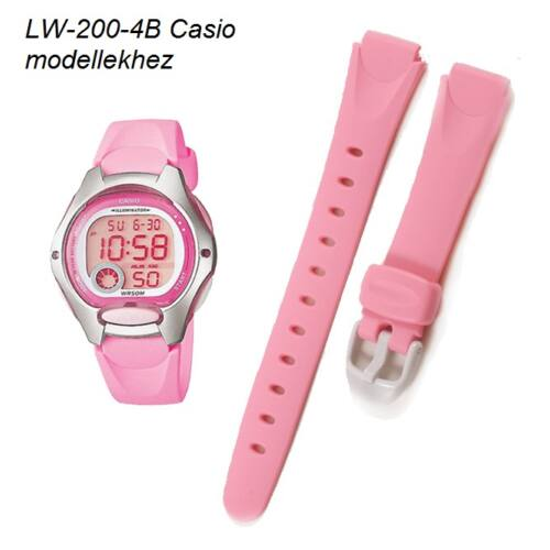 LW-200-4B Casio rózsaszín műanyag szíj