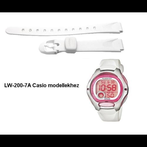 LW-200-7A Casio fehér műanyag szíj