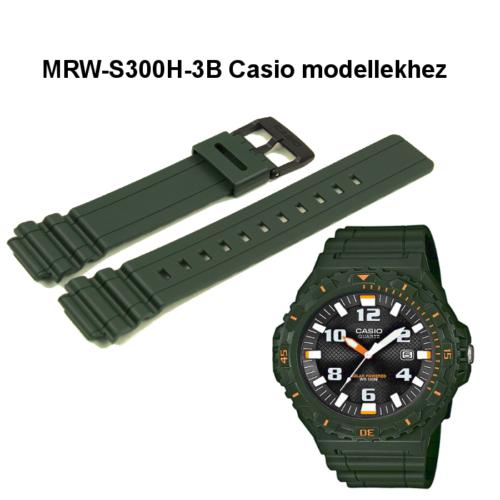 MRW-S300H-3B Casio zöld műanyag szíj
