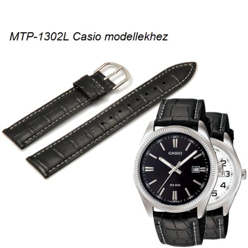 MTP-1302L Casio fekete bőrszíj