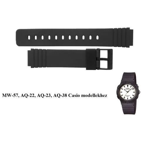 MW-57, AQ-22, AQ-23, AQ-38 Casio fekete műanyag szíj