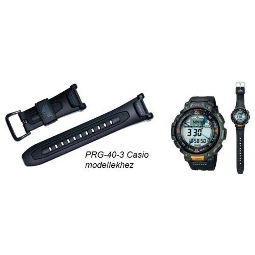 PRG-40-3 Casio fekete műanyag szíj