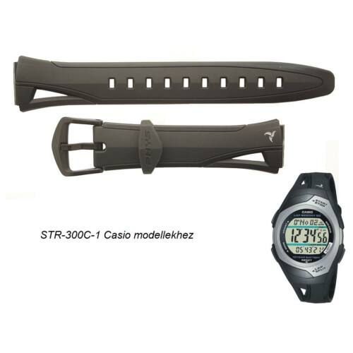 STR-300C-1 Casio fekete műanyag szíj