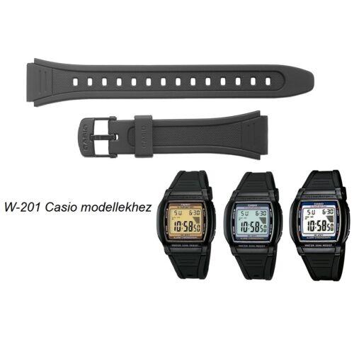 W-201 Casio fekete műanyag szíj