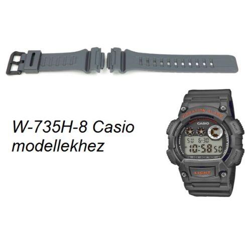 W-735H-8 Casio szürke műanyag szíj
