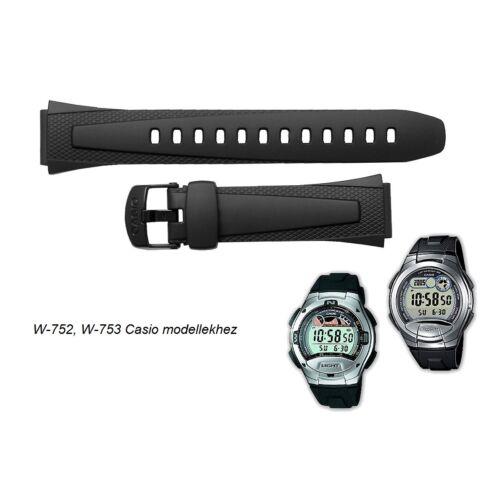 W-752 W-753 W-755 Casio fekete műanyag szíj