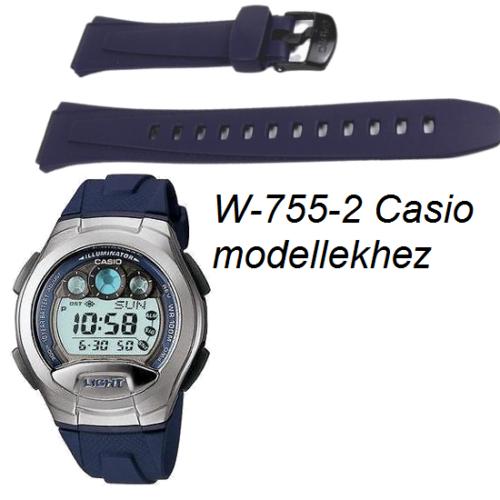 W-755-2 Casio kék műanyag szíj
