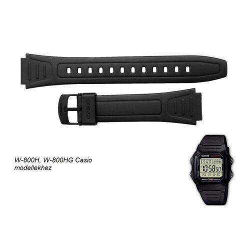 W-800 Casio fekete műanyag szíj - rkt