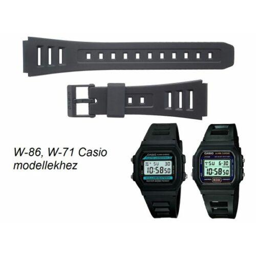 W-86 W-71 Casio fekete műanyag szíj