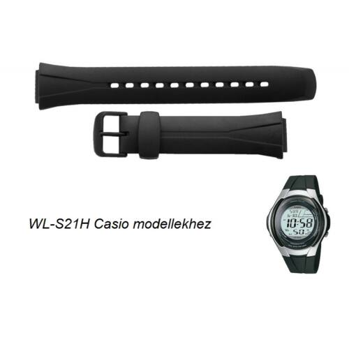 WL-S21 Casio fekete műanyag szíj