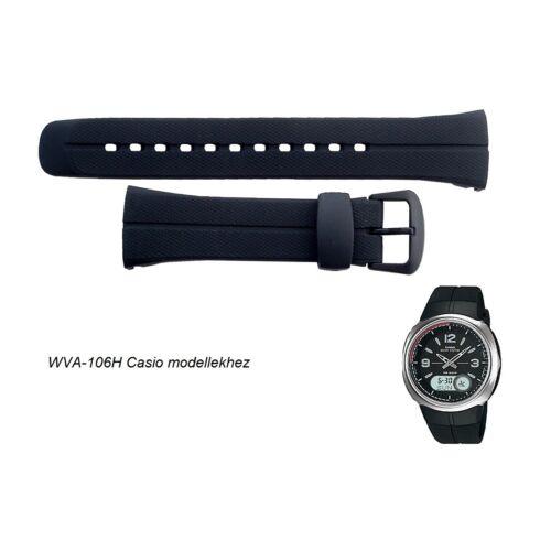 WVA-106 Casio fekete műanyag szíj